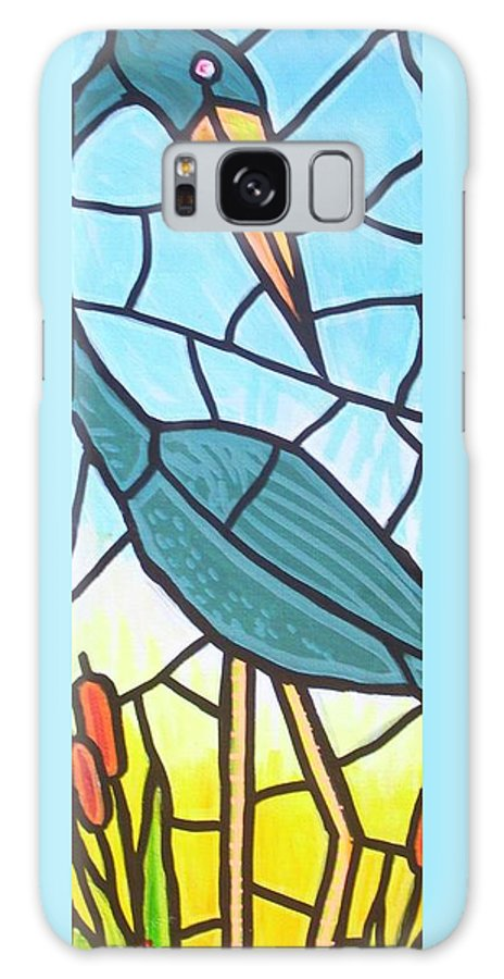 Heron Galaxy S8 Case featuring the painting Blue Heron by Jim Harris