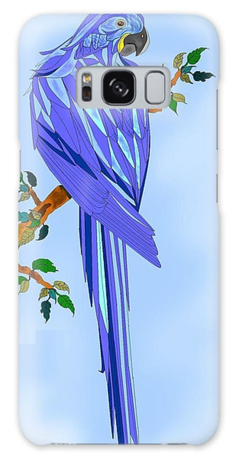 Blue Bird Galaxy S8 Case featuring the painting Blue Hyacinth by Anne Norskog