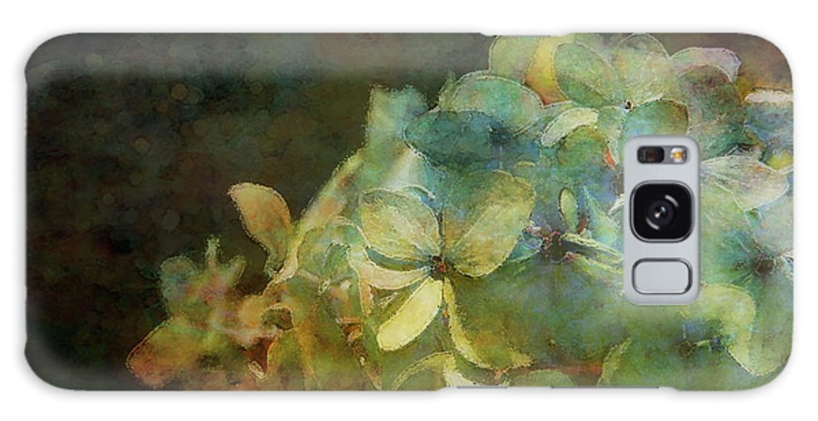 Blue Galaxy S8 Case featuring the photograph Blue Hydrangea Sunset Impression 1203 Idp_2 by Steven Ward