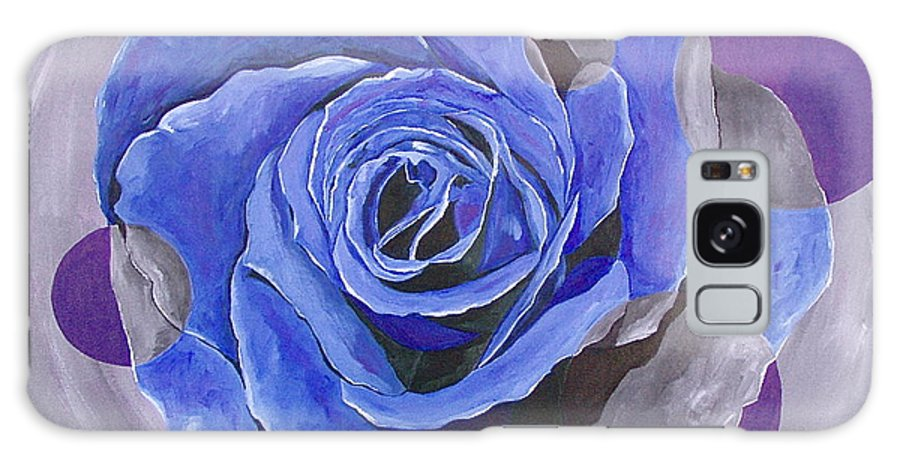 Acrylic Galaxy Case featuring the painting Blue Ice by Herschel Fall