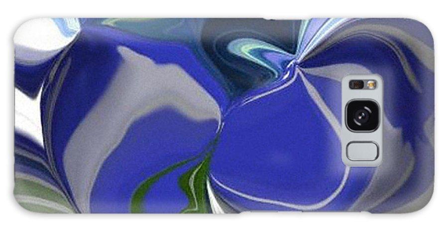 Digital Galaxy S8 Case featuring the digital art Blue Impression by Ilona Burchard