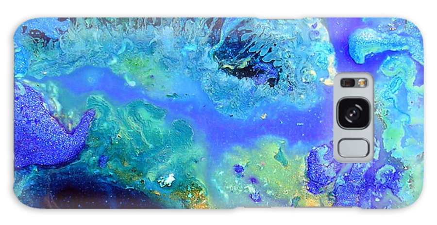 Blue Isles Galaxy S8 Case featuring the painting Blue Isles by Dawn Hough Sebaugh