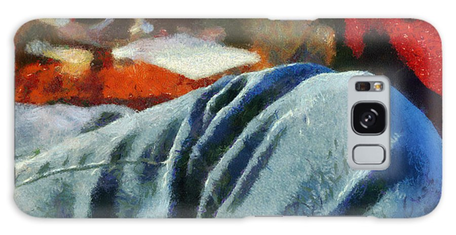 Painting Galaxy S8 Case featuring the painting Blue Jean Morning by Paulette B Wright