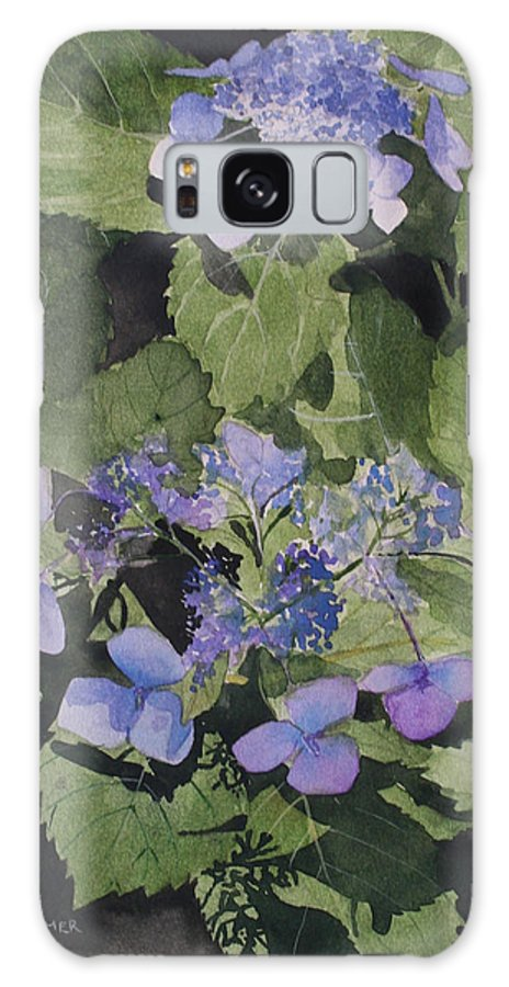 Flowers Galaxy S8 Case featuring the painting Blue Lace by Jean Blackmer