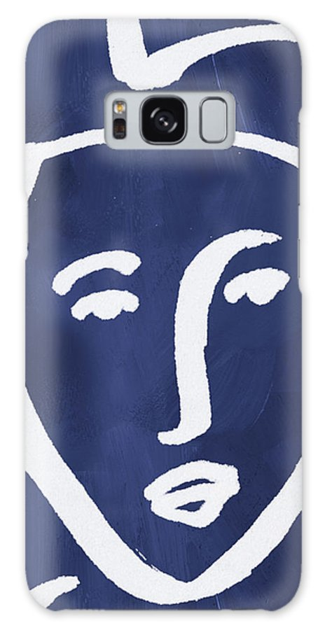 Face Galaxy S8 Case featuring the mixed media Blue Lady- Art By Linda Woods by Linda Woods