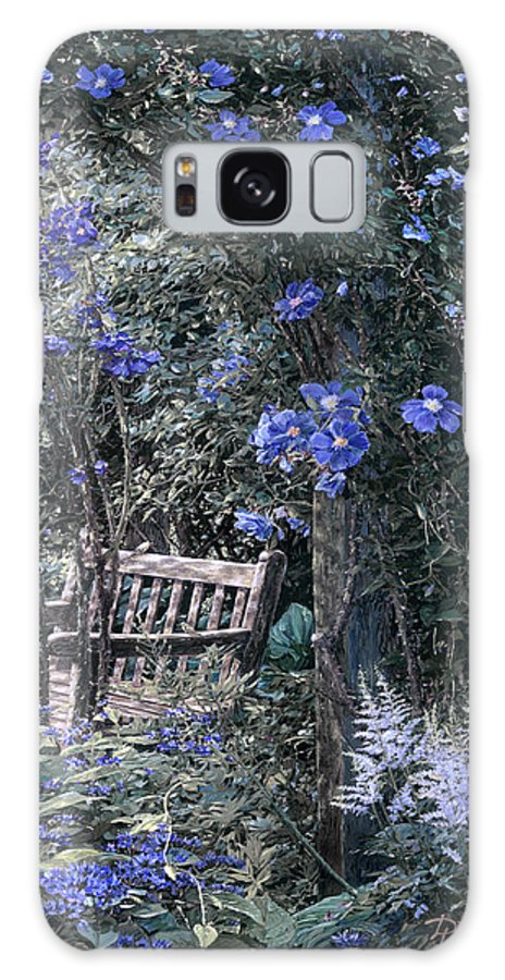Galaxy S8 Case featuring the painting Blue Muted Garden Respite by Doug Kreuger