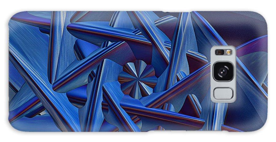 Deborah Benouit Galaxy S8 Case featuring the painting Blue On Blue by Deborah Benoit