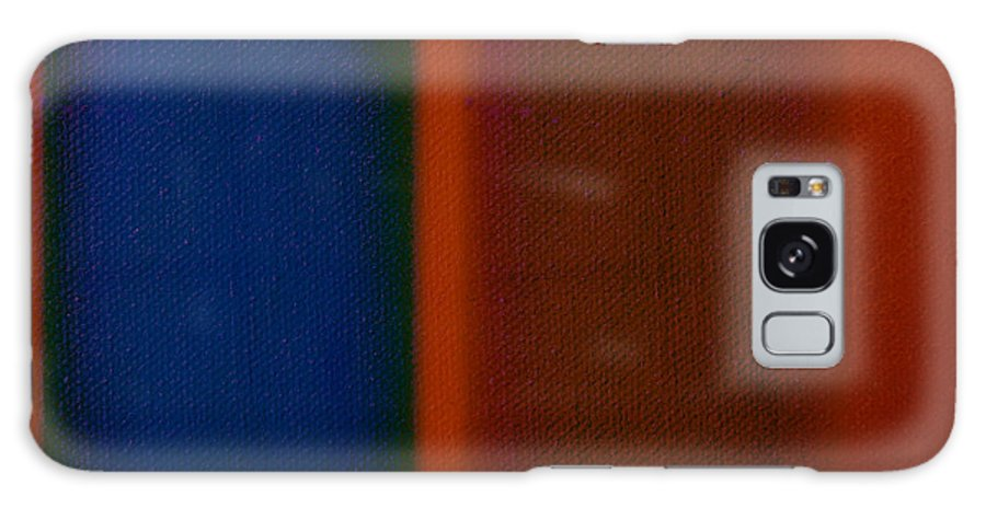 Rothko Galaxy S8 Case featuring the painting Blue On Orange by Charles Stuart
