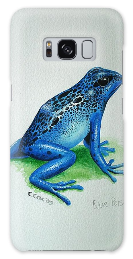 Poison Arrow Frog Galaxy S8 Case featuring the painting Blue Poison Arrow Frog by Christopher Cox