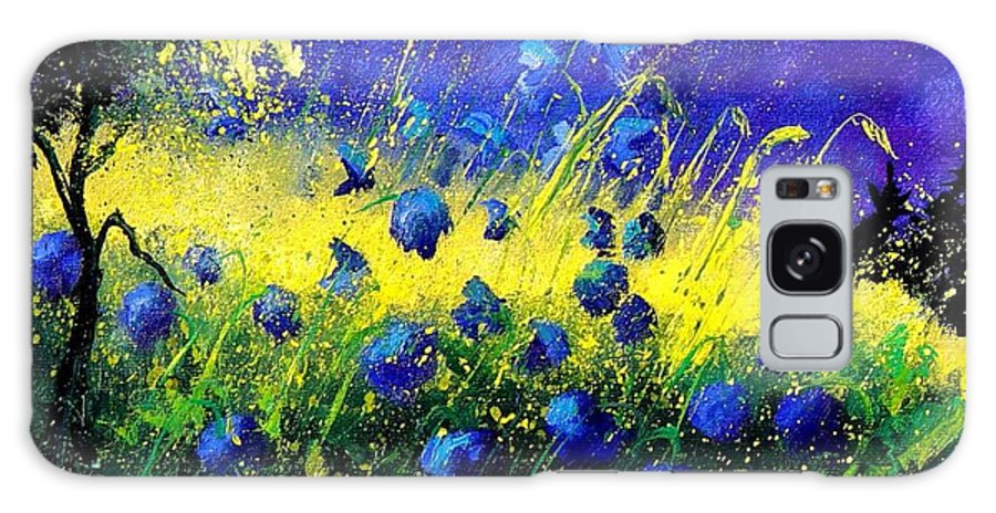 Flowers Galaxy Case featuring the painting Blue Poppies by Pol Ledent