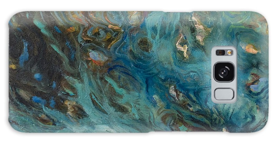 Marine Galaxy Case featuring the painting Blue by Rick Nederlof
