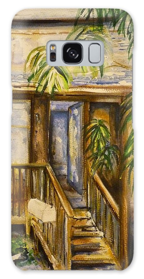 Blue Ridge Mountains Galaxy S8 Case featuring the painting Blue Ridge Cabins Blue Ridge Mountains by Lizzy Forrester