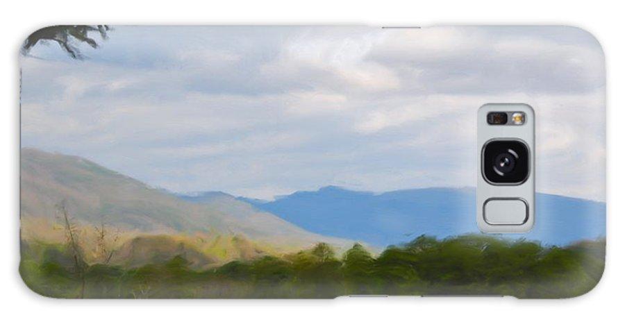 Blue Ridge Mountain Galaxy S8 Case featuring the painting Blue Ridge Mountain by Jan Daniels