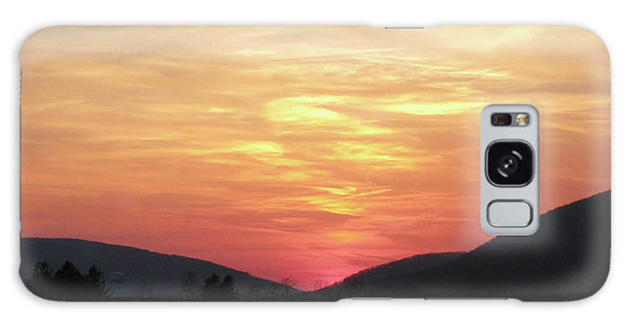 Sunset Galaxy S8 Case featuring the photograph Blue Ridge Sunset by Donna Brown