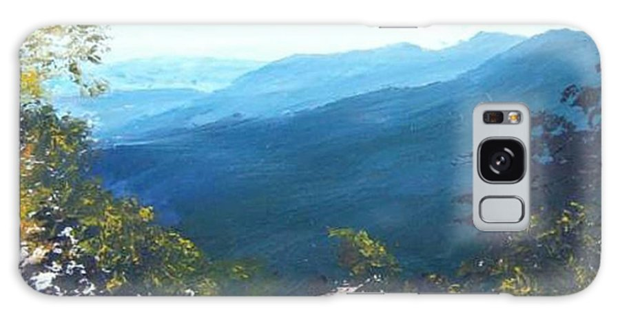 Landscape Galaxy S8 Case featuring the painting Blue Ridge by Tami Booher