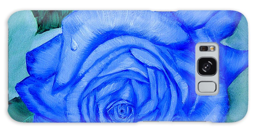 Rose Galaxy S8 Case featuring the painting Blue Rose by Quwatha Valentine
