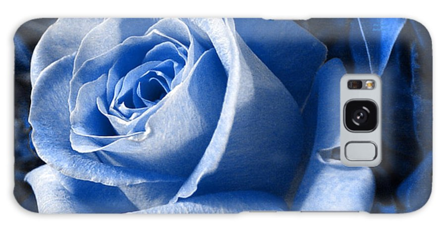 Blue Galaxy S8 Case featuring the photograph Blue Rose by Shelley Jones