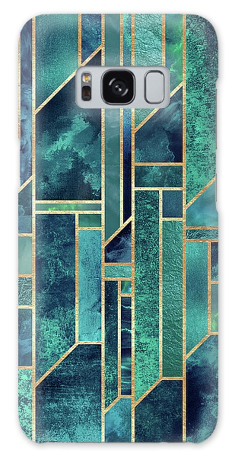 Graphic Galaxy Case featuring the digital art Blue Skies by Elisabeth Fredriksson