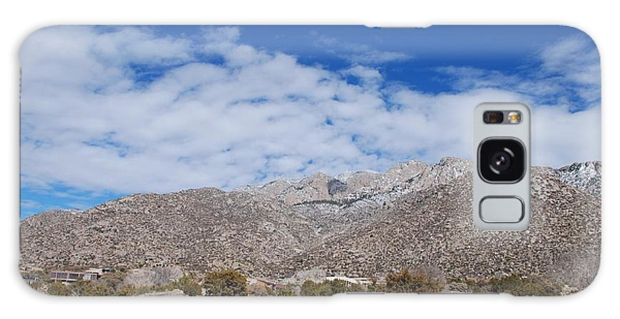 Sandia Mountains Galaxy S8 Case featuring the photograph Blue Skys Over The Sandias by Rob Hans