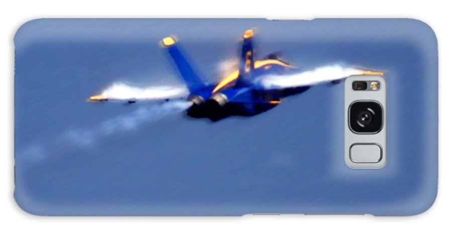 Blue Angles Galaxy S8 Case featuring the photograph Blue Solo by Larry Keahey