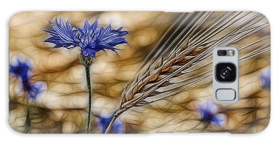 Cornfield Galaxy S8 Case featuring the photograph Blue Stars by Joachim G Pinkawa