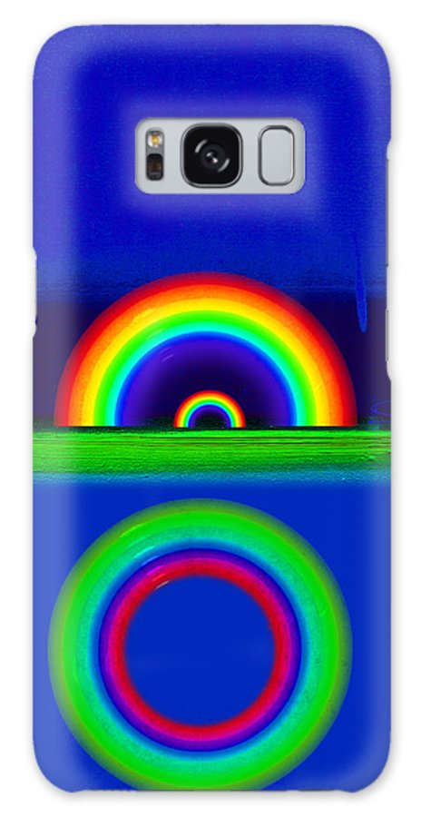 Rainbow Galaxy S8 Case featuring the painting Blue Sunset by Charles Stuart