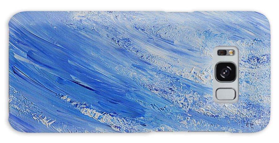 Blue Galaxy S8 Case featuring the painting Blue by Teresa Wegrzyn