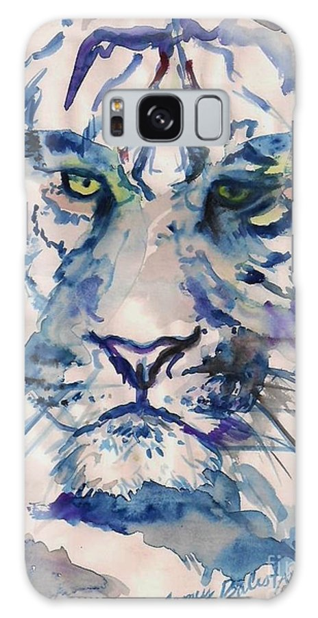 Blue Galaxy S8 Case featuring the painting Blue Tiger by Jamey Balester