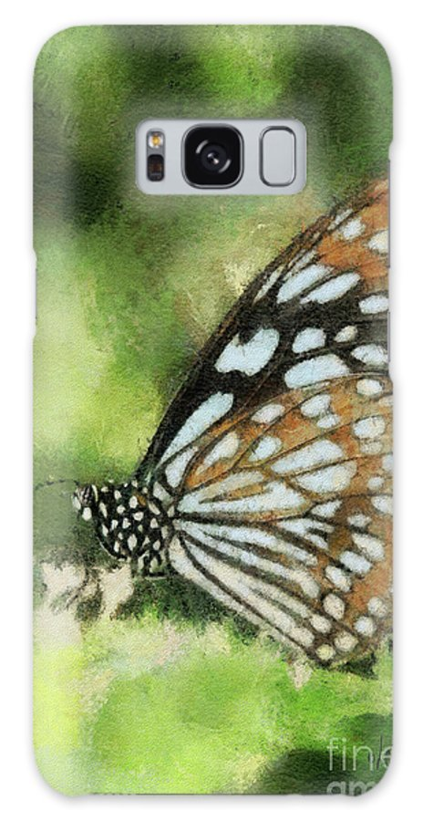 Butterfly Galaxy S8 Case featuring the photograph Blue Tiger by Lois Bryan