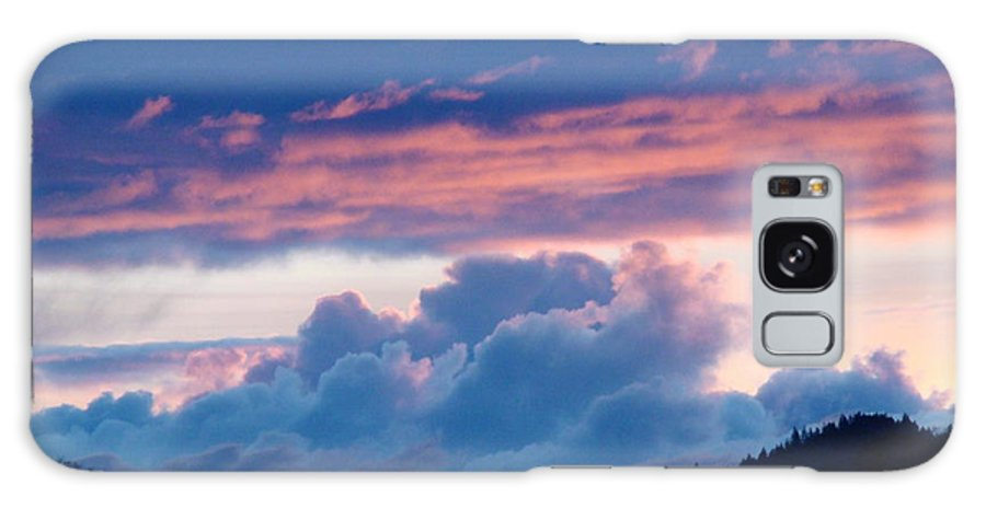 Sunset Galaxy S8 Case featuring the photograph Blue Twilight Clouds Art Prints Mountain Pink Sunset Baslee Troutman by Baslee Troutman