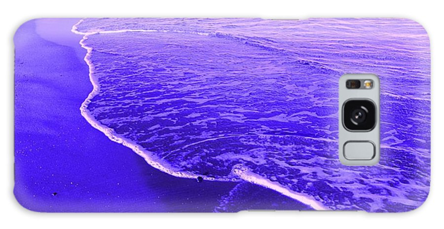 Abstract Galaxy S8 Case featuring the digital art Blue Wash by Ian MacDonald