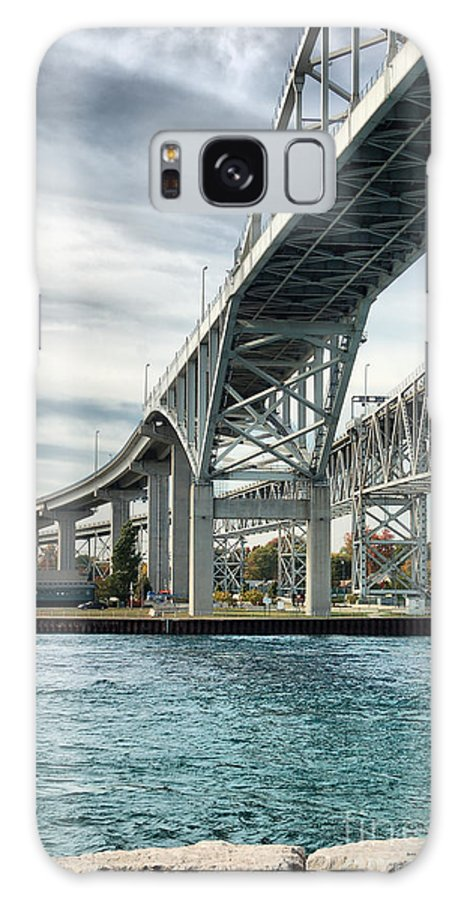 Blue Galaxy S8 Case featuring the photograph Blue Water Bridge by Joe Ng