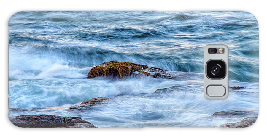 Acadia National Park Galaxy S8 Case featuring the photograph Blue Waves by Susan Cole Kelly