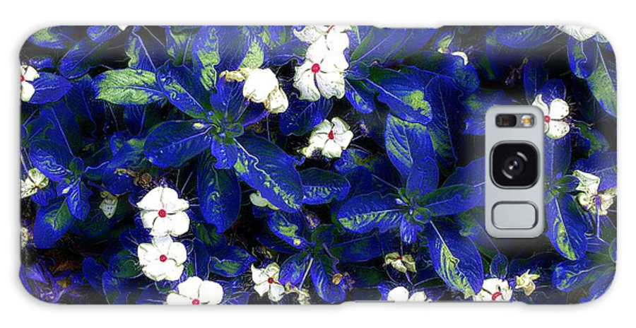 Flowers Galaxy S8 Case featuring the mixed media Blue White I by Terence Morrissey