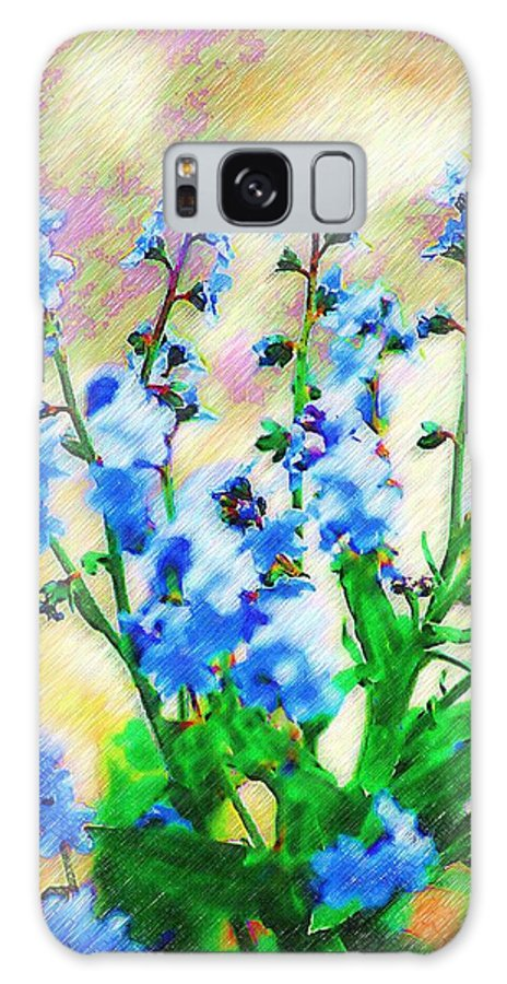 Blue Galaxy S8 Case featuring the photograph Blue Wildflowers by Donna Bentley