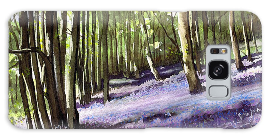 Woodland Galaxy S8 Case featuring the painting Bluebells At Grimescar Wood by Paul Dene Marlor