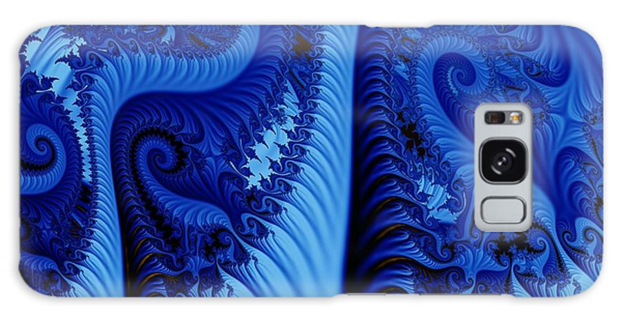 Fractal Art Galaxy S8 Case featuring the digital art Blues by Ron Bissett
