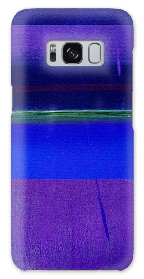 Landscape Galaxy S8 Case featuring the painting Bluescape by Charles Stuart