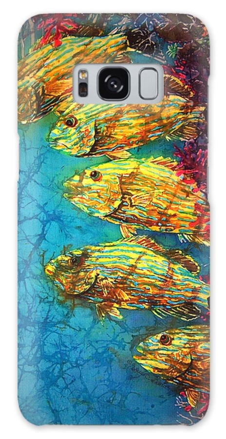 Bluestriped Grunts Galaxy S8 Case featuring the painting Bluestriped Grunts by Sue Duda