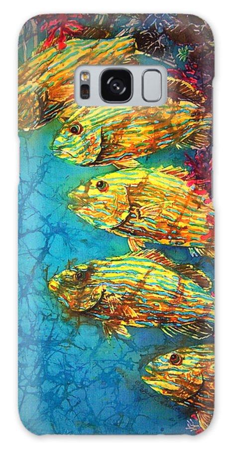 Bluestriped Grunts Galaxy S8 Case featuring the painting Bluestriped Grunts by Sue Duda