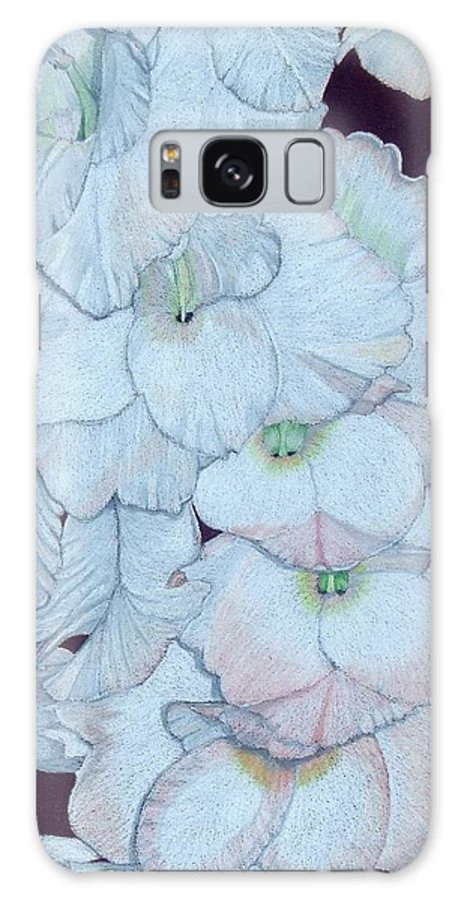 Gladiola Galaxy S8 Case featuring the painting Blush by Anita Putman