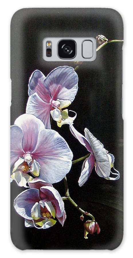Orchid Galaxy S8 Case featuring the painting Blushing by Joan Garcia