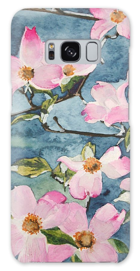Flowers Galaxy S8 Case featuring the painting Blushing Prettily by Jean Blackmer