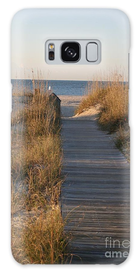 Boardwalk Galaxy Case featuring the photograph Boardwalk To The Beach by Nadine Rippelmeyer