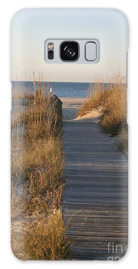 Boardwalk Galaxy S8 Case featuring the photograph Boardwalk To The Beach by Nadine Rippelmeyer