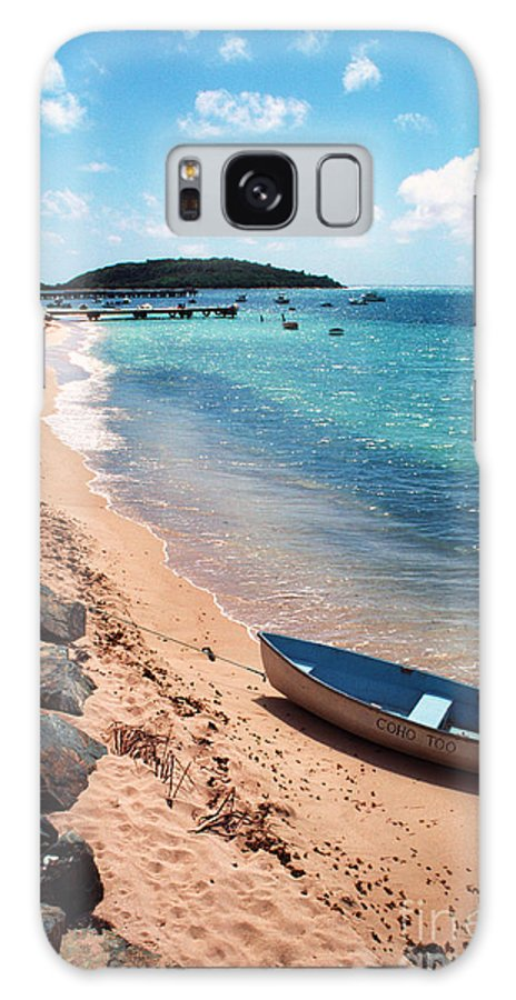 Beach Galaxy S8 Case featuring the photograph Boat Beach Vieques by Thomas R Fletcher