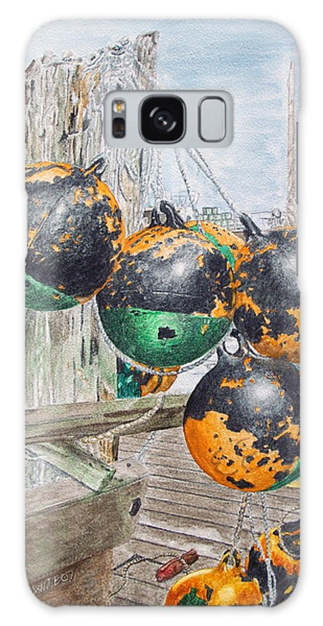 Boat Bumpers Galaxy Case featuring the painting Boat Bumpers by Dominic White