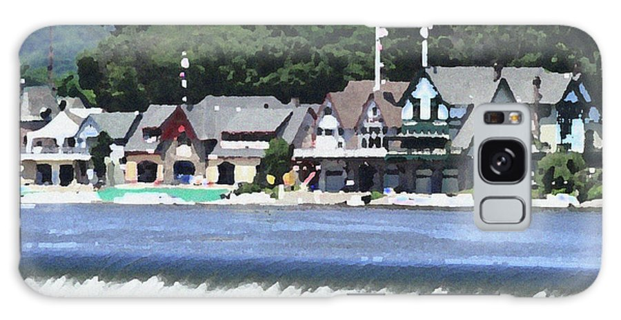 Boathouse Galaxy S8 Case featuring the photograph Boathouse Row - Palette Knife by Lou Ford