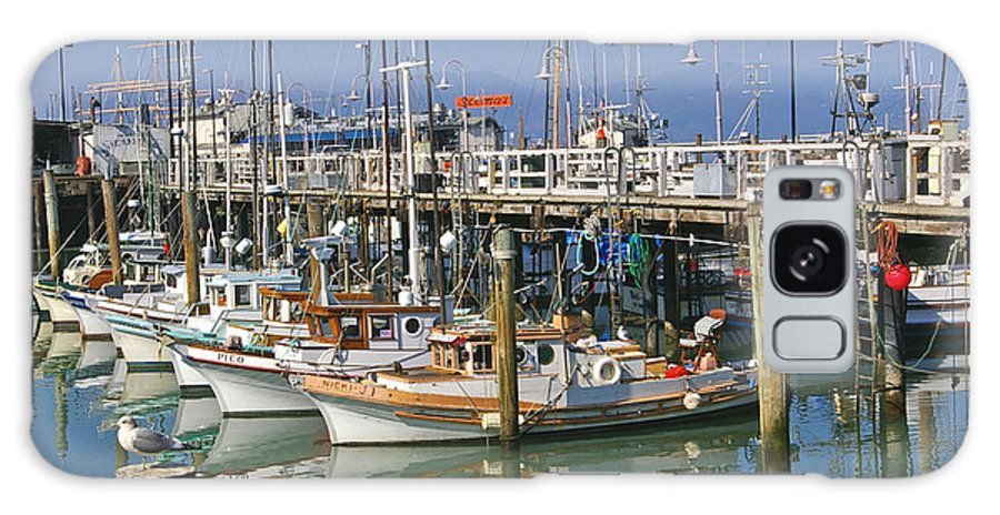 Boats Galaxy S8 Case featuring the photograph Boats At Fisherman by Tom Reynen