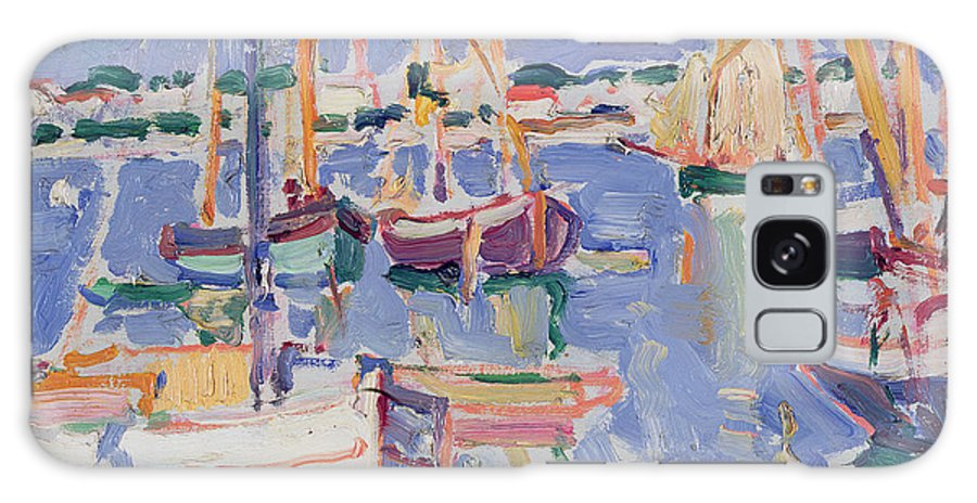 Boats Galaxy S8 Case featuring the painting Boats At Royan by Samuel John Peploe